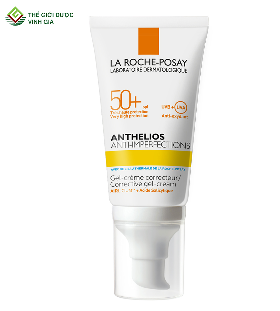 Kem Chống Nắng LA ROCHE-POSAY ANTHELIOS ANTI-IMPERFECTIONS SPF50+ UVB+ UVA Cho Da Dầu