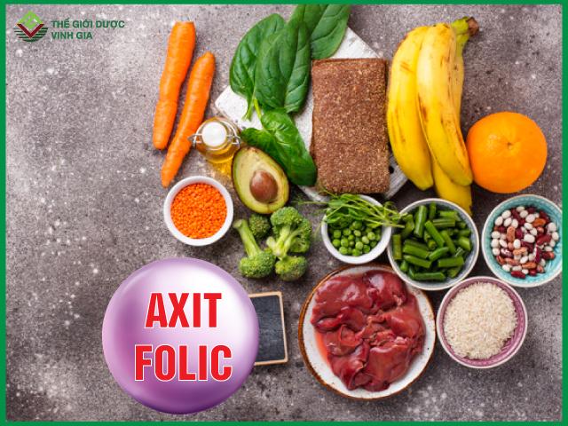 Acid folic thường có ở đâu?